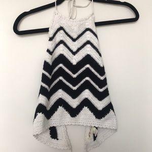 Crochet backless crop top